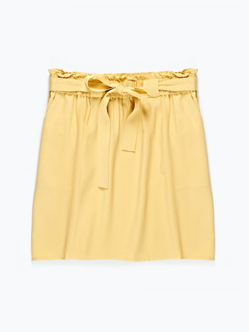 Viscose skirt with pockets