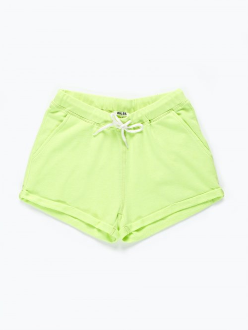 Sweat shorts with contrast lace