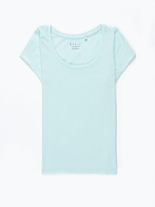 Basic round neck stretch t-shirt
