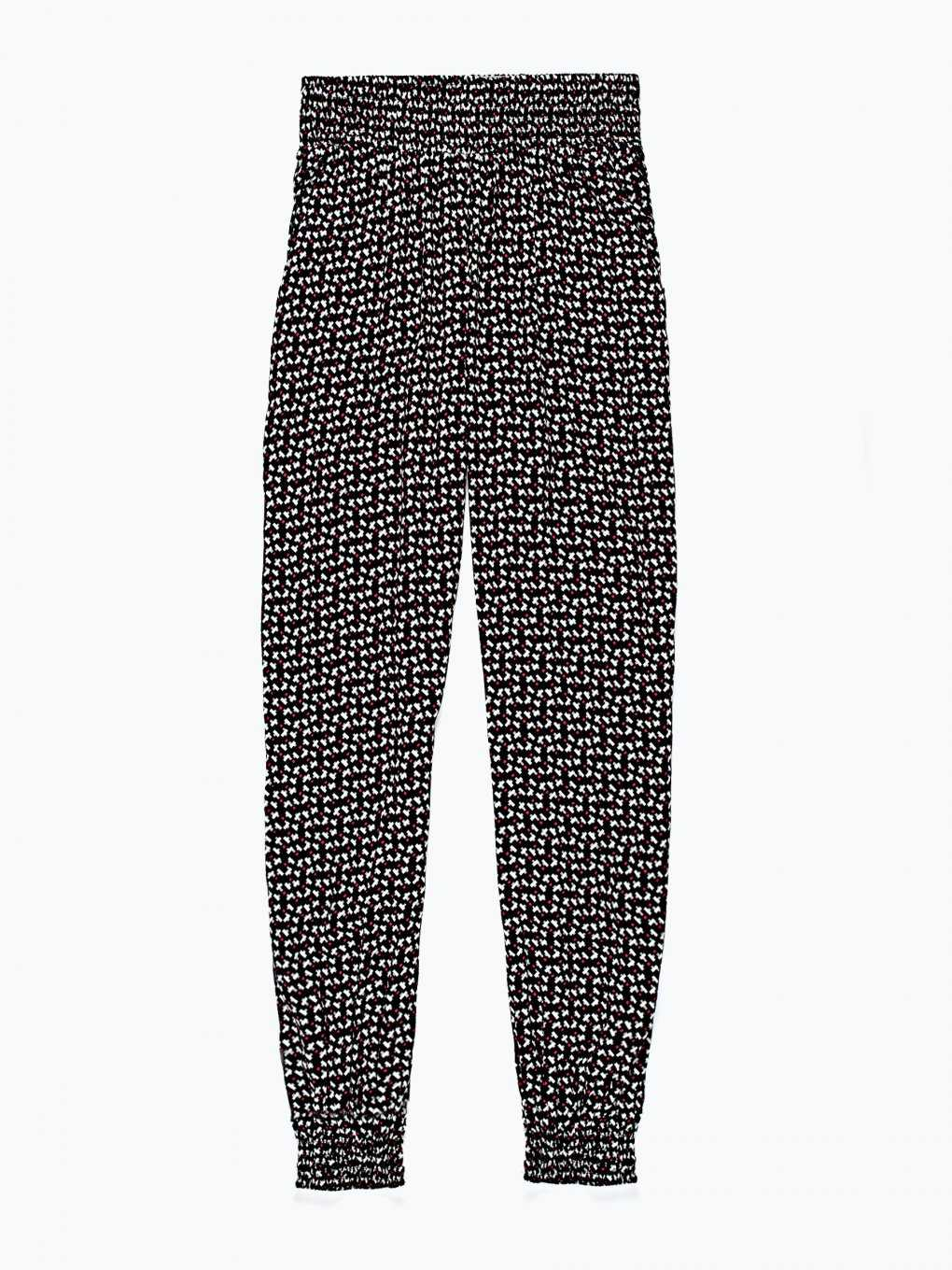 All over print viscose harem trousers