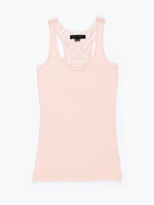 Tank top with back lace detail