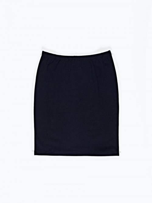 Pencil skirt with side stripe