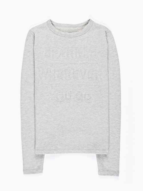Sweatshirt with ebossed print