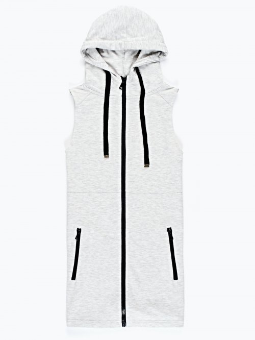 Zip-up hoodie terrie waistcoat