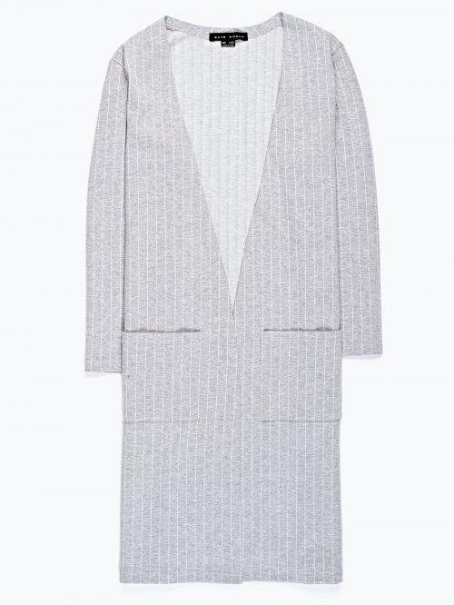 Longline open blazer with pockets
