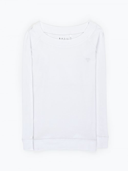 Basic t-shirt with chest embro
