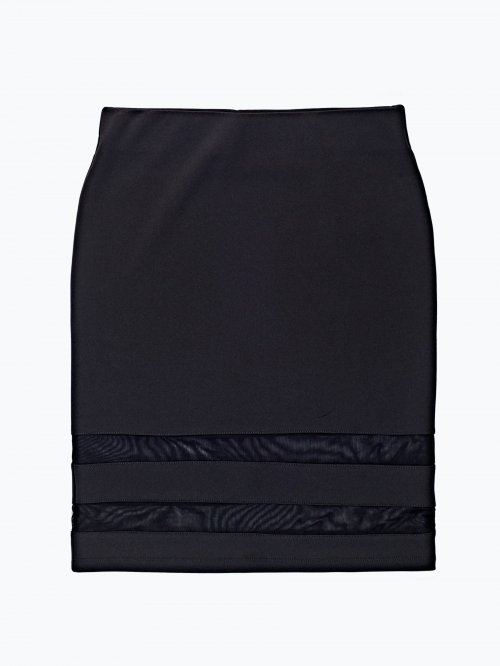 Pencil skirt with mesh details