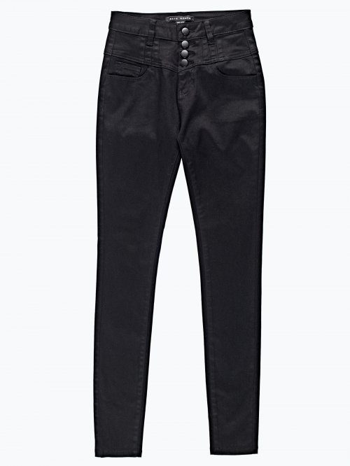 High waisted skinny trousers