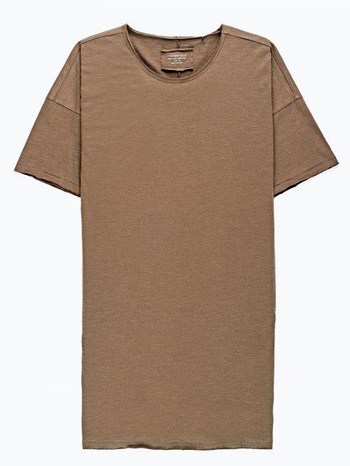 Longline t-shirt with raw edge