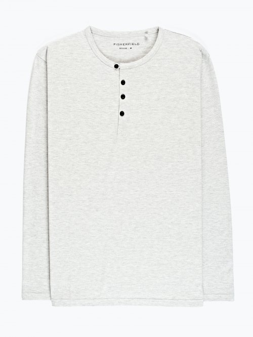 T-shirt with front buttons