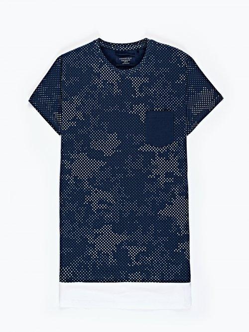 Printed t-shirt with hem panel