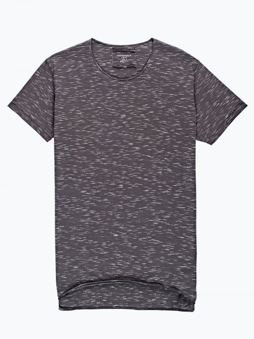 Marled t-shirt with raw edge