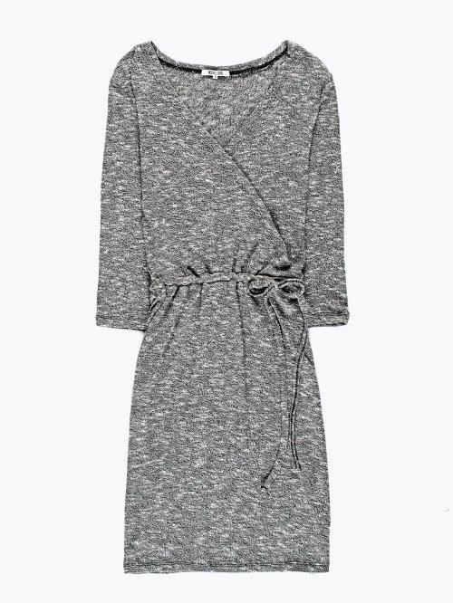 V-neck marled pencil dress