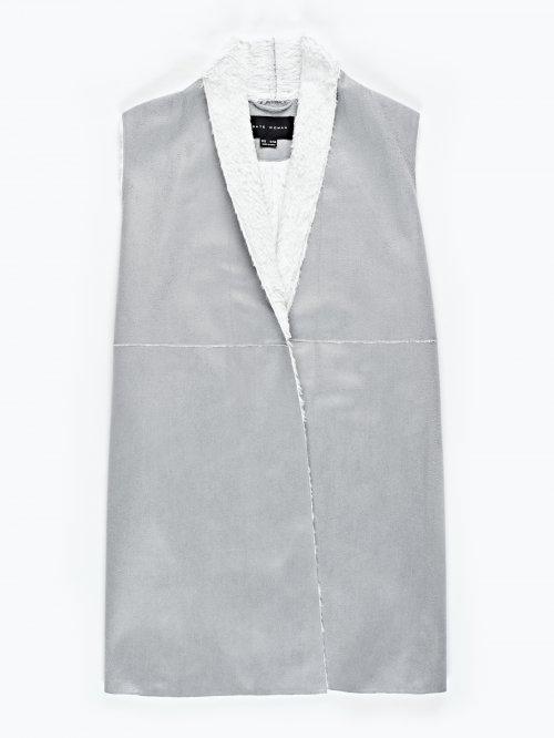 Prolonged pile lined waistcoat