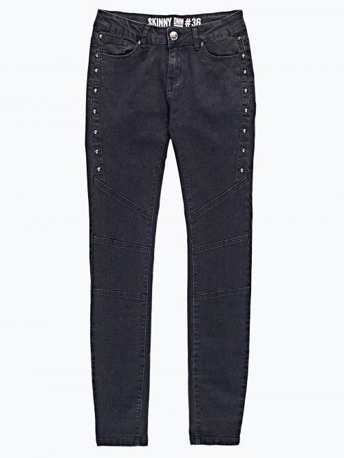 Biker skinny jeans with rivets
