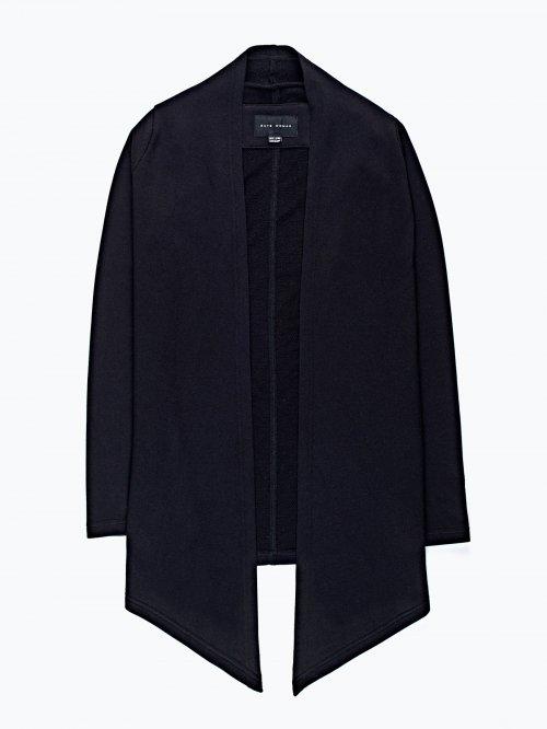 Drape front cardigan sweatshirt