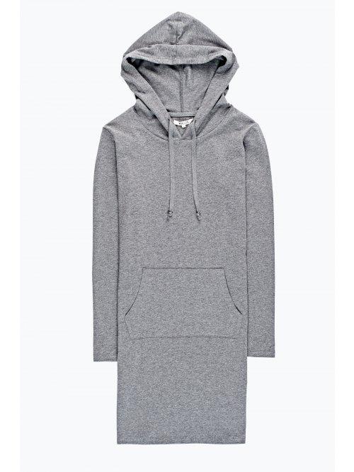 Hooded dress with kangaroo pocket