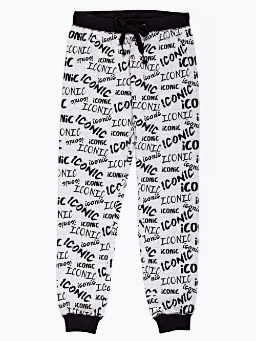 Slogan print sweatpants