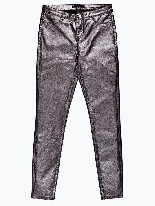 Metallic skinny trousers