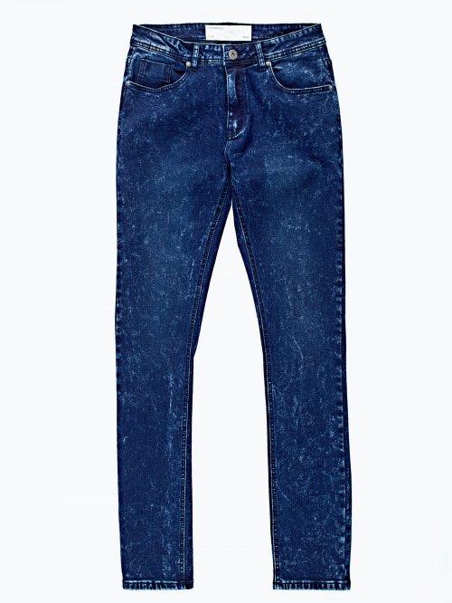 Slim fit snow wash jeans