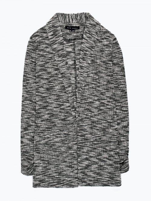 Marled prolonged blazer