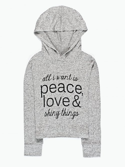 Hooded t-shirt with print