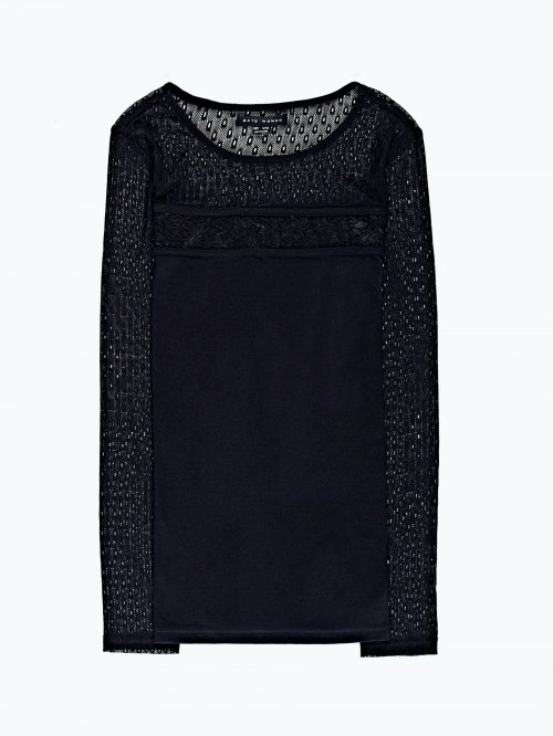 Combined lace t-shirt