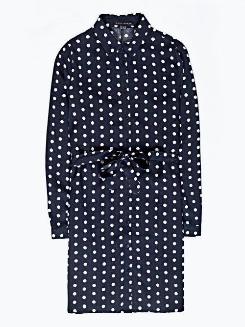 Polka dot print shirt dress