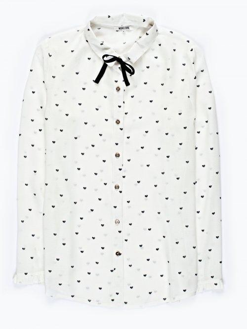 Hearts print viscose shirt