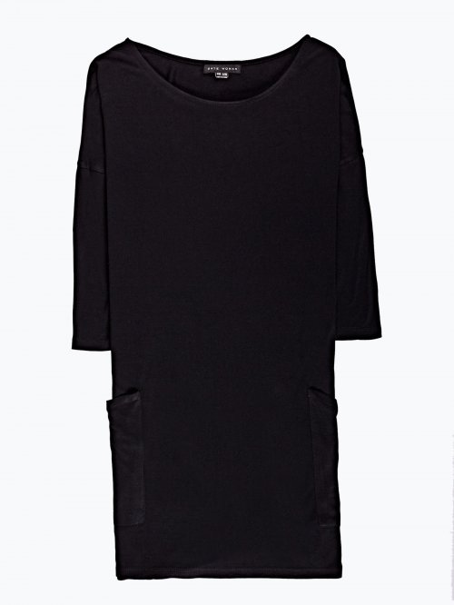 Oversized viscose top with pockets