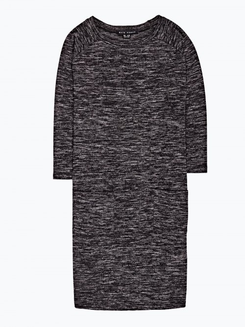 Marled dress with front pockets