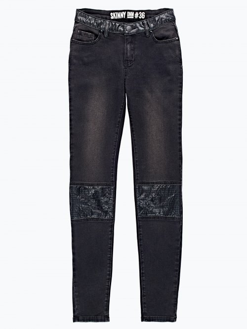 Combined skinny jeans in black wash