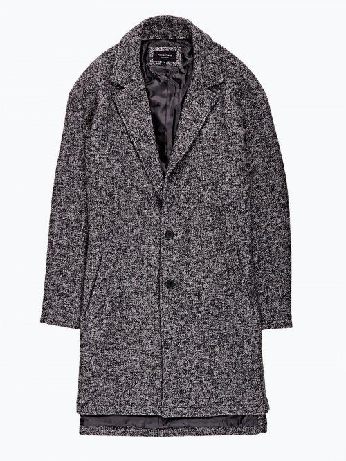 Oversized marled coat