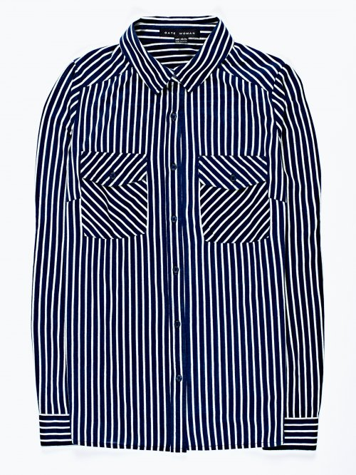 Striped blouse with pockets
