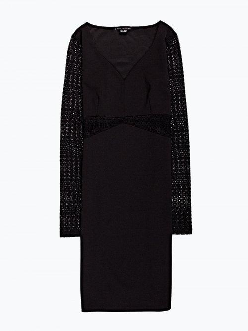 Combined v-neck dress