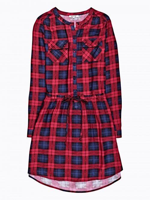Checked viscose dress