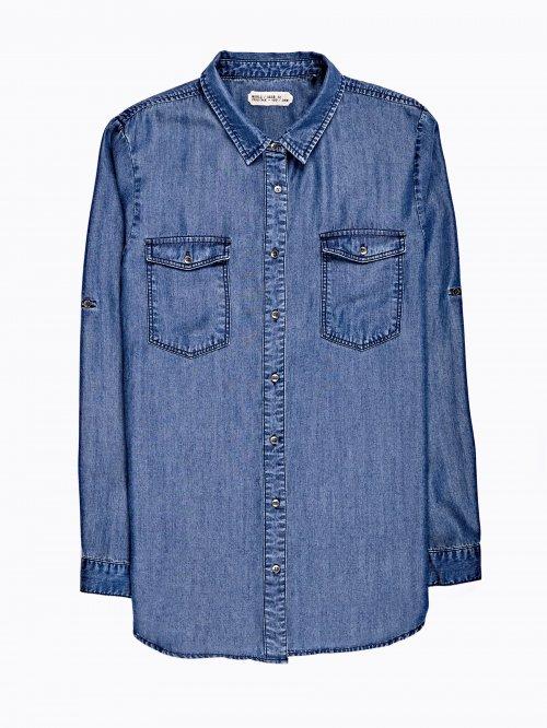 Prolonged lyocell shirt