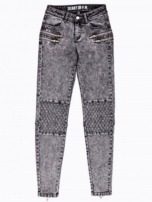Biker jeans in grey wash