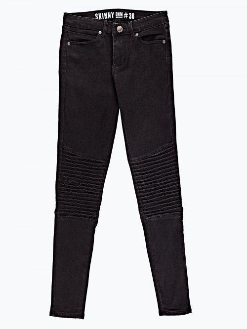 Biker jeans in black wash