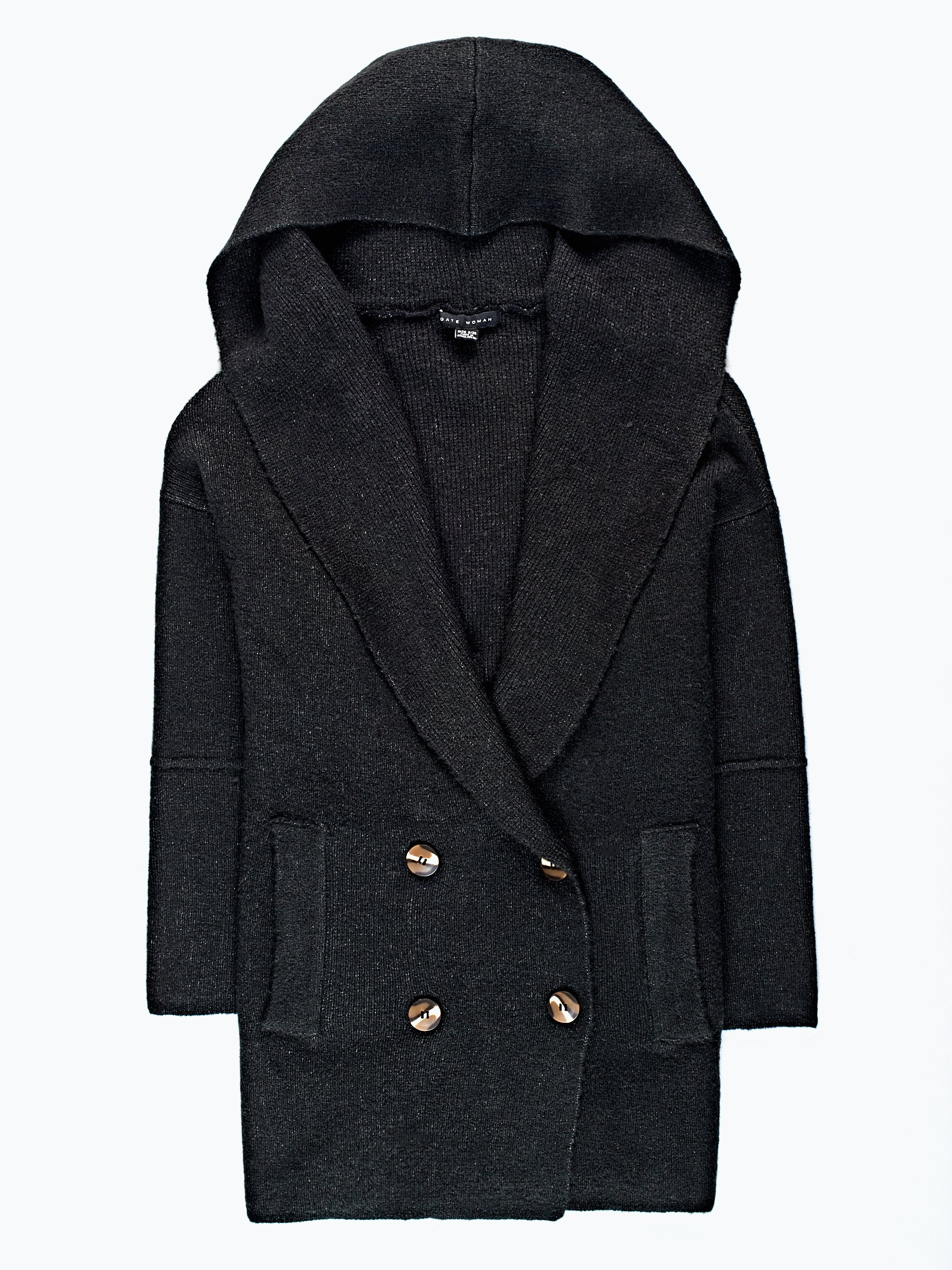 Oversized hooded cardigan in wool blend | GATE