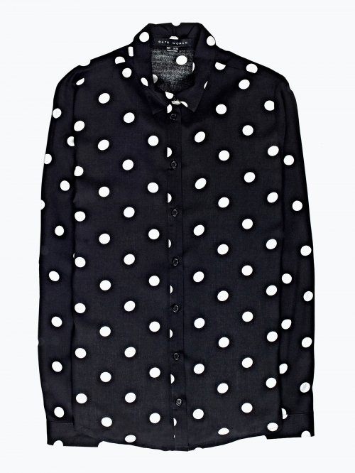 Polka dot print viscose shirt