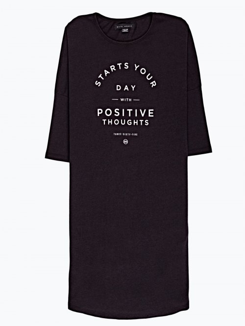 Prolonged t-shirt with print