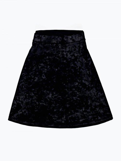 Áčková zamatová sukňa