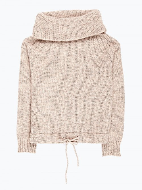Funnel neck jumper in wool blend