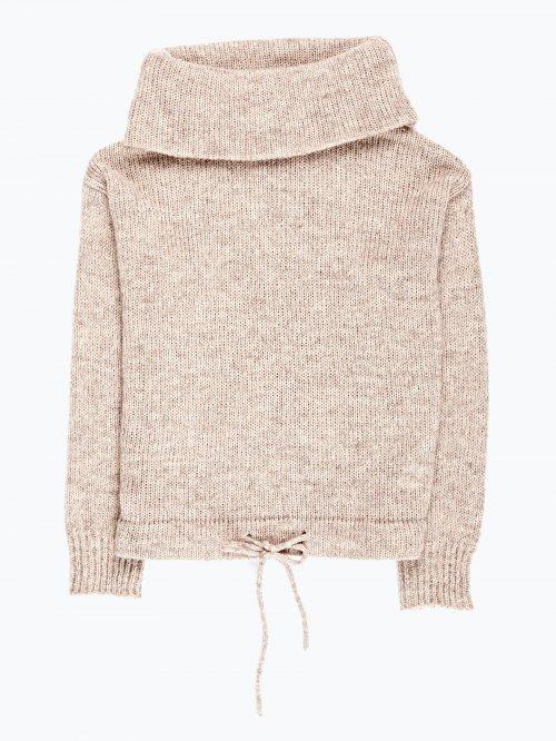 Funnel neck jumper in wool blend