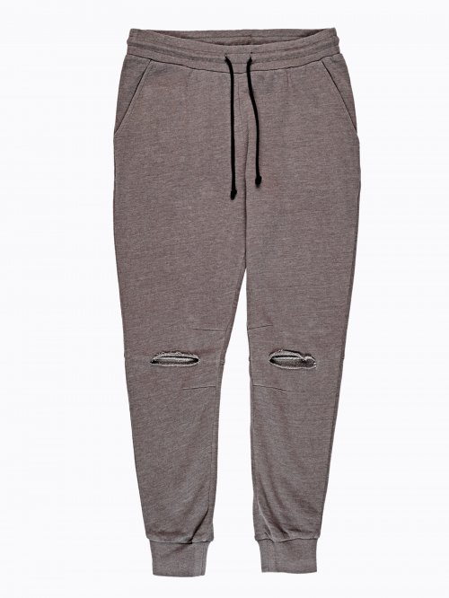 Ripped knee sweatpants