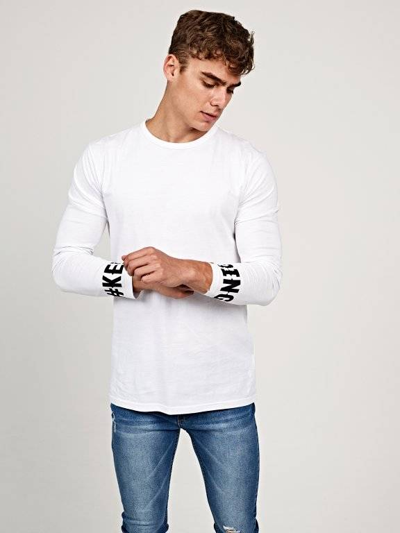 Jersey t-shirt with sleeve print