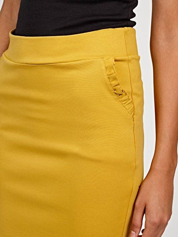Mini skirt with ruffle pocket detail