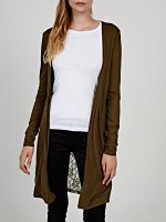 Longline cardigan with lace