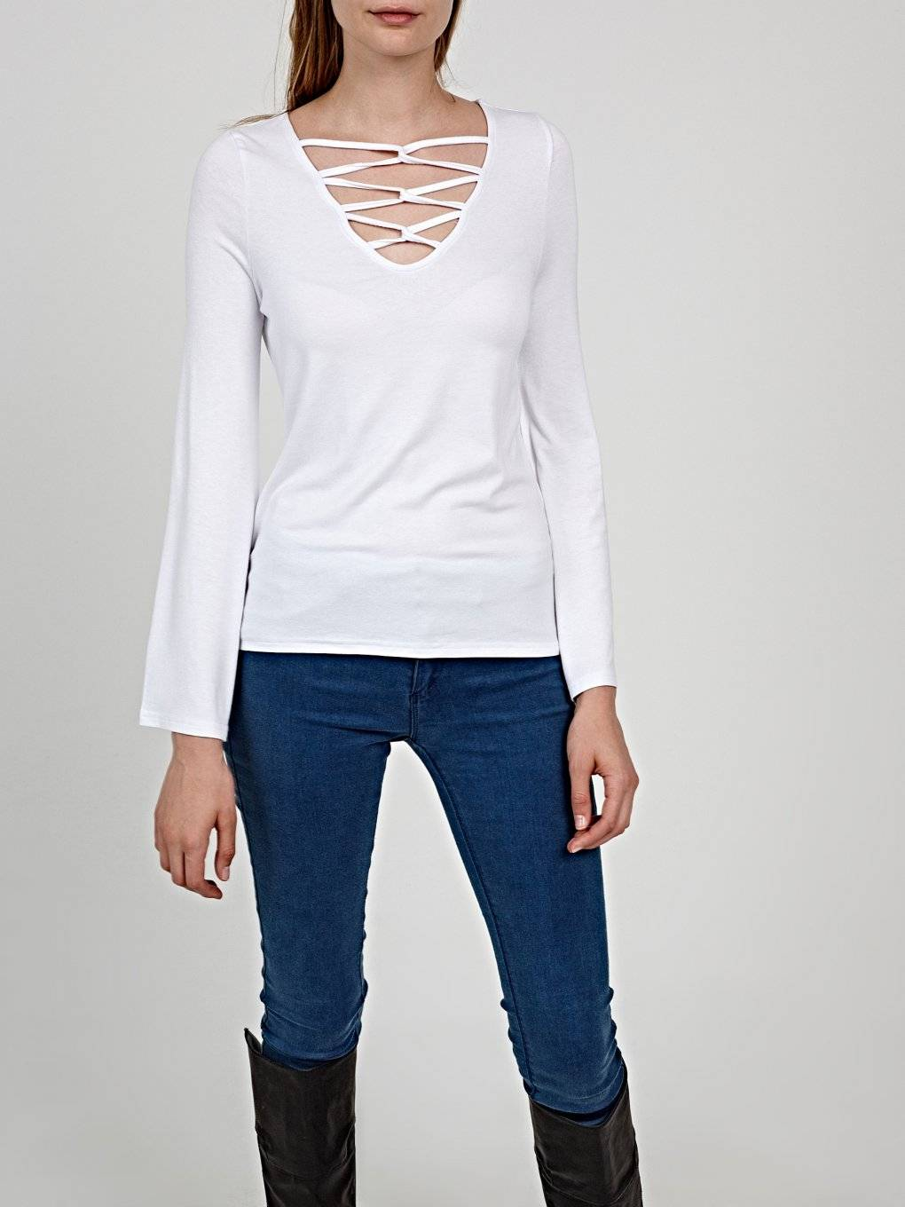 Lace-up top
